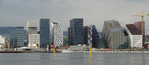 Barcode-rekken - blårussens monument og spennende arkitektur.