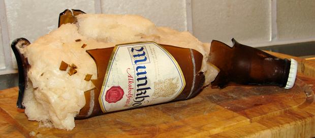 En øl rett fra fryser'n