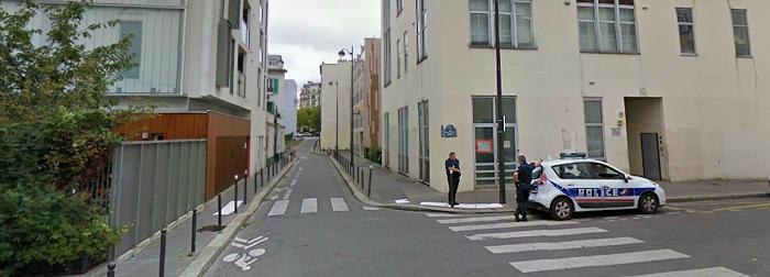 Her ved nr 10 holder Charlie Hebdo til. Kilde: Google Maps (august 2014). Klikk på bildet for tilgang til Google.