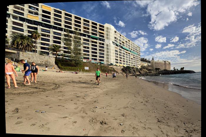 Tysker-stranden nedenfor Dorado-hotellet
